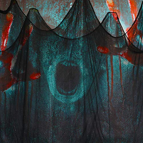 79 Inches x 360 Halloween Creepy Cloth Cheesecloth Spooky Decorations Outdoor Party Supplies Dcor for Haunted House Patio Garden Indoor Wall Windows