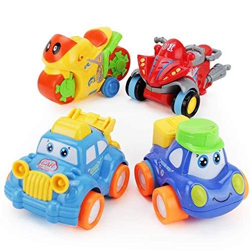 Boley Buddy Mini Toy Cars Model Two – 4 Piece Friction Powered Small Race