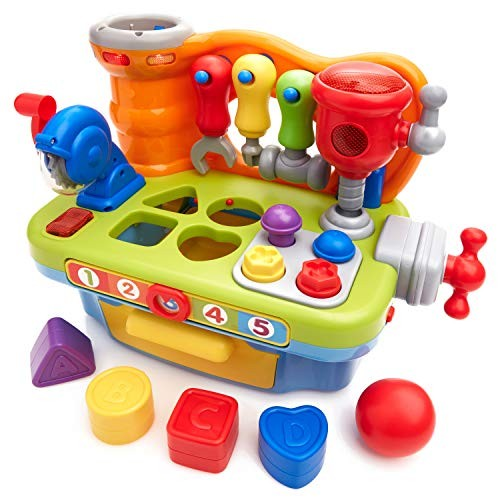Play Pride Early Education 18 Month Olds Baby Toy Plastic Workbench Pretend Tool Set for Children & Kids Boys and Girls