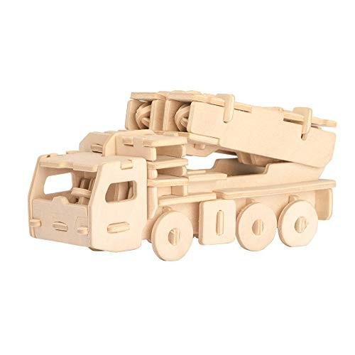 Missile Launcher 3D Puzzle Wood 42-pcs DIY Wooden Creative Toys Building Block
