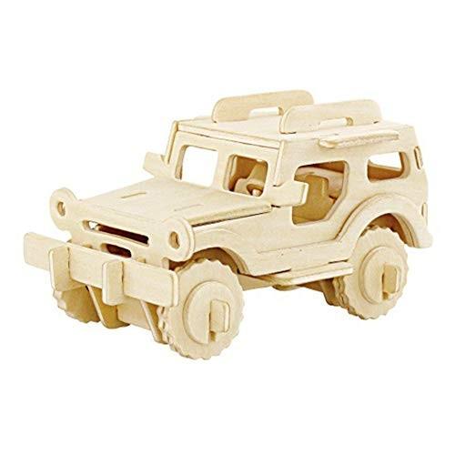 BeesClover 3D DIY Assemble Wooden Transportation Building Blocks Puzzle Toy for Kids car 261405