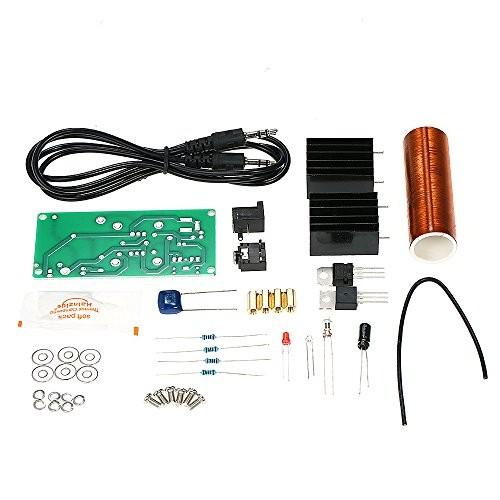 Festnight DC 15~24V DIY Mini Music Tesla Coil Plasma Loudspeaker Kit Set Wireless Transmission Experiment Model