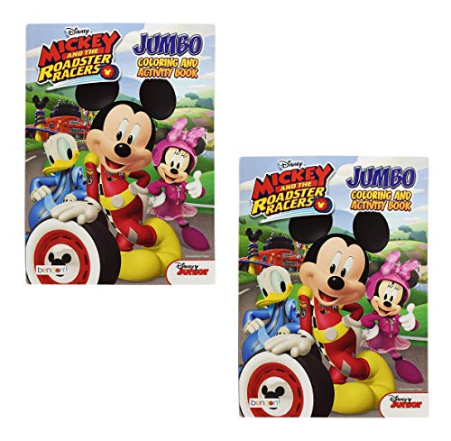 Disney Jumbo Mickey Mouse Roadster Racers Coloring Book 2 Educational Toys Planet
