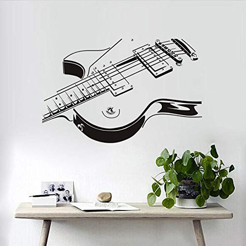Wall Stickers Murals Electric Guitar Sticker 3D PVC Sitting Room The Bedroom Decorates Home Decor 59x38Cm