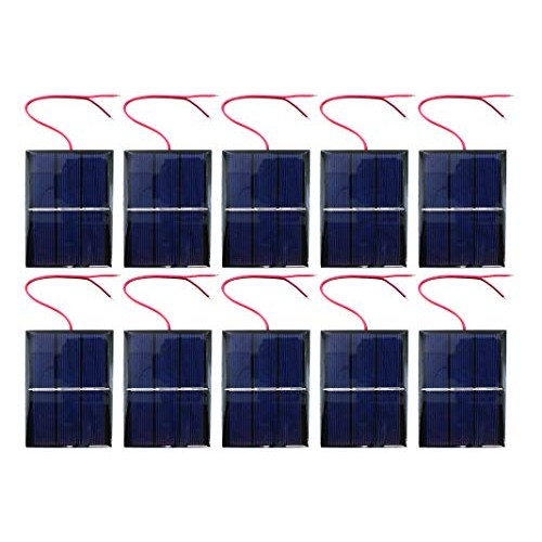 10 Pack xUmp Solar Cells – 15V 400mA 80x60mm for Science STEM Hobby and Electronics Projects