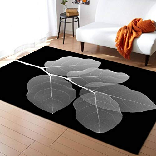 Large 3D Carpets Green Leaf Vein Rug Bedroom Kids Room Play Mat Memory Foam Carpet Parlor Home Decorate Rugs