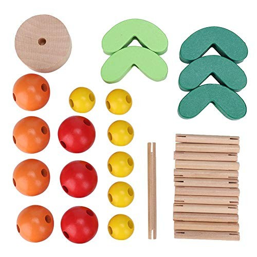 Hztyyier Wood Building Blocks Wooden Balancing Cactus Toy Stacking Game for Kids Children Preschool Learning Educational Toys