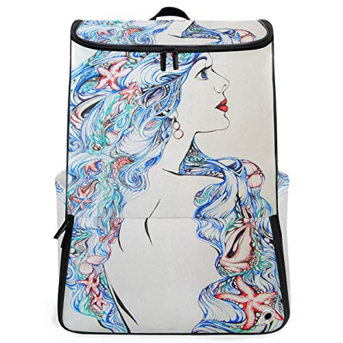 Backpack Lightweight Travel Abstract Decorate Starfish Woman School Rucksack for Boys Girls