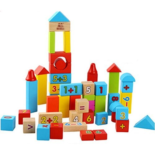 Kylin Express Children's Puzzle Solid Wooden Digital Building Block Toys