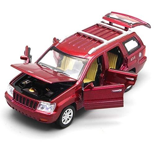 elegantstunning 1/32 Scale USA JEE-P Grand Cherokee SUV Diecast Metal Pull Back Six Door