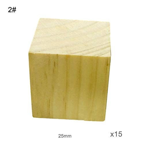 haixclvyE Kids Jigsaw Puzzles Party Favors Toys Wooden Square Cubes Building Blocks Math DIY Toy 2#