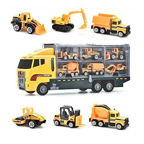 DIYARTS Construction Toys Sets Children Metal Play Vehicles Tractor Dump Truck Excavator Tow Diecast