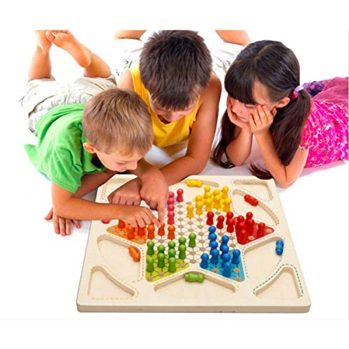 Educational Children's Wooden Toys Kids Building Blocks Checkers Flight Chess Draughts & Flying Baby Wood Toy