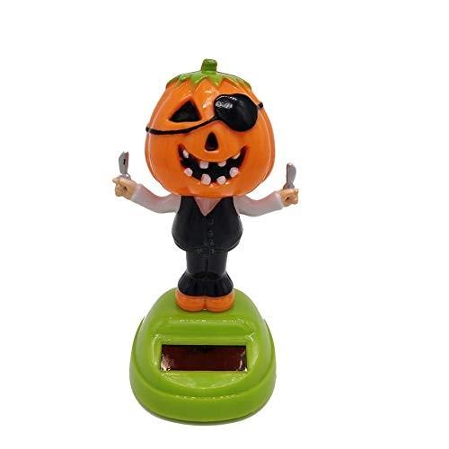 Solar Dancing Toy Plastic Solar-Powered Swinging Halloween Pumpkin Doll Toys Animal Car Decor for Kids Gift