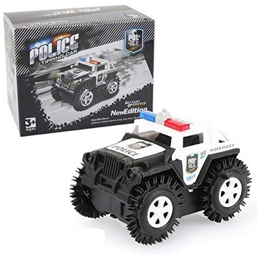 Deerbb Police Truck Toys for Boys Electric Cartoon Puzzle Kids Car Vehicle Playset