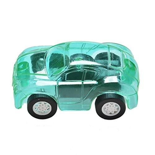 yanbirdfx Transparent Car Toy Plastic Mini Cute Candy Color Pull Back Automobile Model Plastic