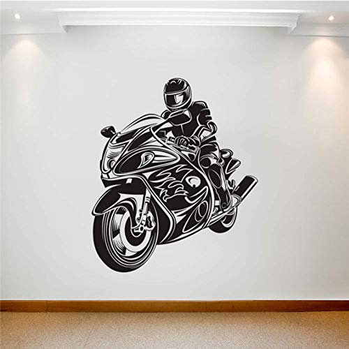 aizaixinli Motorcycle Stunt Drivers Decorate Their Living Room and Children's Wall with Art Deco 58 x 66 cm