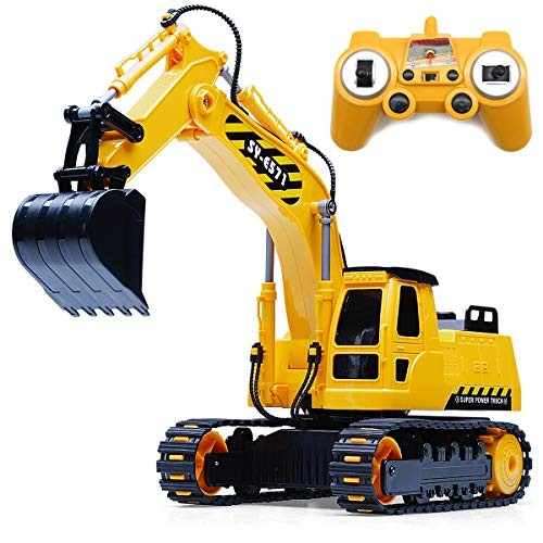 Fistone 8 Channel RC Excavator 1/26 24Ghz Remote Control Tractor Car Toy Construction Vehicles