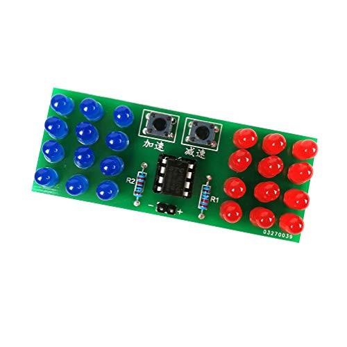 Dingdong Store Electronic Welding Practice Kit Blue Red Flash Light Adjustable MCU Solder Kits