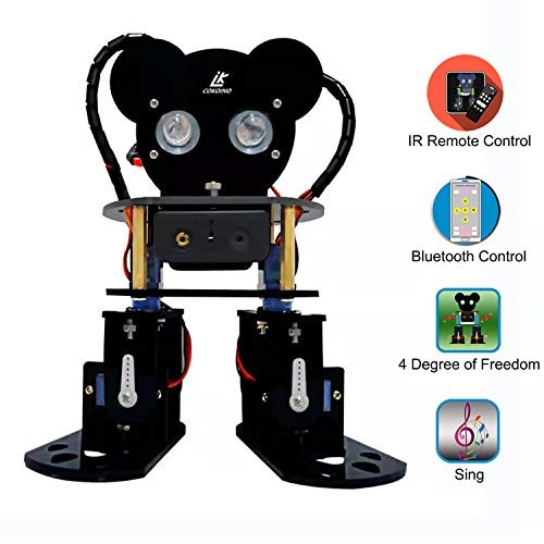LK COKOINO Dynamic Robot Kit for Arduino Dance and Beep Multiple Style Movments Led Eyes Bluetooth Control A Simple Interactive Both Beginners Experts
