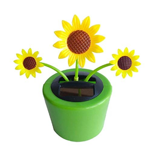 Boddenly Eco-Friendly Solar Dancing Flowers in Colorful Pots Decoration Gift Sunflower Office Desk & Car Decor Kids Toy GiftsSolar Flower Great Holiday Dashboard Home Dcor