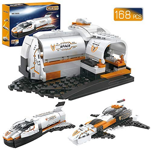 BRICK STORY Space Shuttle Building Blocks Set Ship Bricks Pack Construction Toys for Boys 6-12 3 in 1 168 Pcs