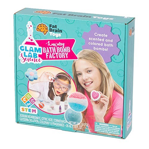 Fat Brain Toys Bath Bomb Set – Glam Lab Science Maker & DIY Kits for Ages 8 to 11