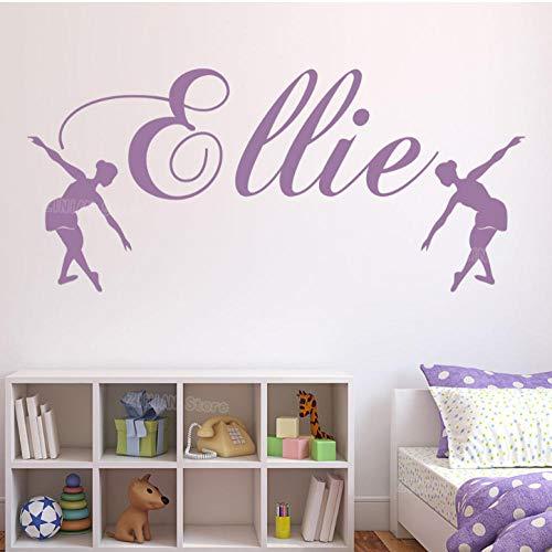 wsydd Wall Sticker Ballet Dance Decal Girls Bedroom Home Decor Girl Nursery Stickers Room Decorate 58x25cm