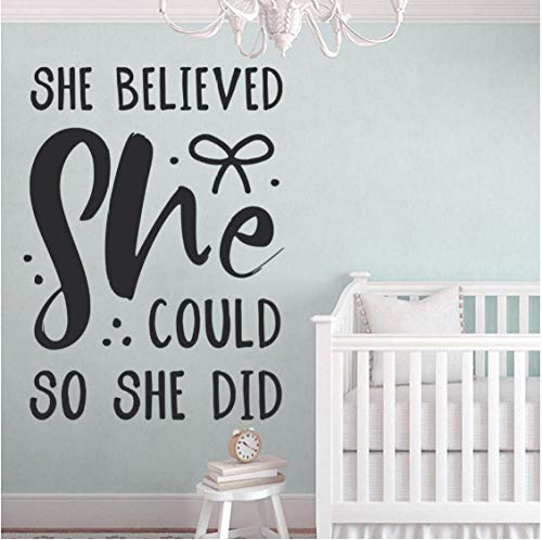 qinheny Nursery Wall Sticker Quote for Kids Rooms Inspiring Motivational Words Decals Bedroom Playroom Removable Home Decorate 42x56Cm