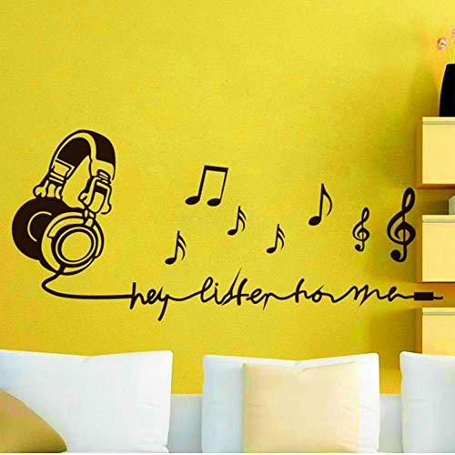 Wall Stickers Murals Music Note Decorate Ornaments Vinyl for Kids Room Removable Decals Living Home Decor Mural 94x42Cm