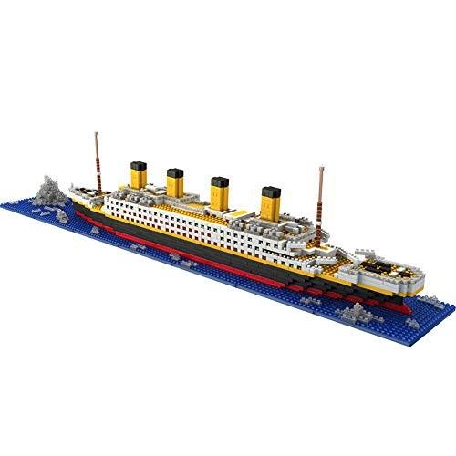 Joyhub Titanic Model Micro Blocks Building Set 3D Puzzle DIY Educational Toy Gift for Adults and Children 1860 pcs Titanic