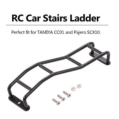 Leslaur RC Car Stairs Ladder Mini Metal Simulation 4-Level Decorate for Tamiya CC01 Pajero SCx10