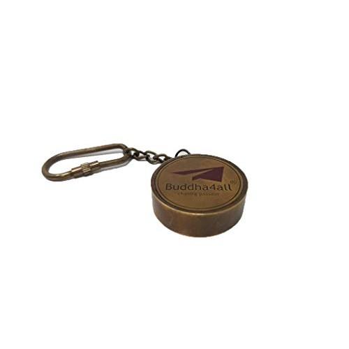 BUDDHA4ALL CHASING PASSION Brass Telescope Compass Key Chain 3 Nautical Gift Decor Set of 1 Compass