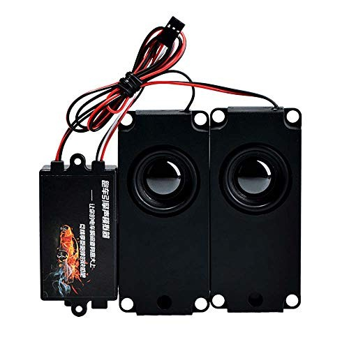 VRfamily RC Car Sound Engine Simulated Module Set with 2 Speakers for 1/10 Vehicle