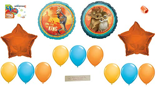 Lion King Birthday Party Supplies – Featuring Ballloons Kit With Simba Nala and Rafiki a Bonus Printed Ribbon