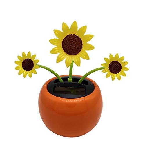 Ouniman Dancing Solar Toys 26 Styles Flower Cactus Powered Car Swinging Toy Windowsill Decoration Holiday Dashboard Office Home Desk Decor B