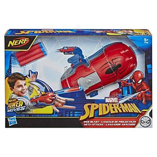 Spider-Man NERF Power Moves Marvel Web Blast Web Shooter NERF Dart-Launching Toy for Kids