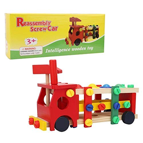 Woyisisi Children Wooden Balls Intelligent Building Construction Block Car Educational Toys