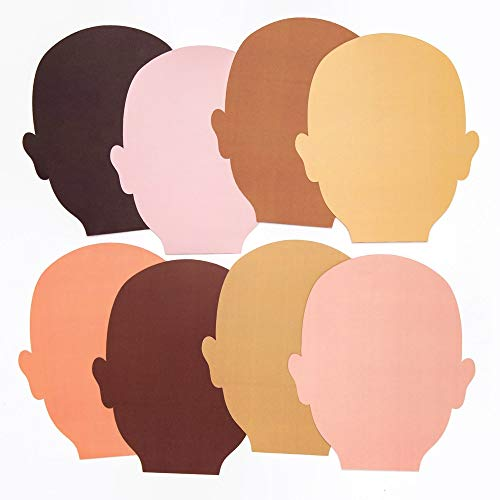 Baker Ross AW757 Skin Tone Face Cut-Outs Perfect for Children to Design and Decorate Ideal Home School Work Craft Group Projects More Pack of 56 Assorted