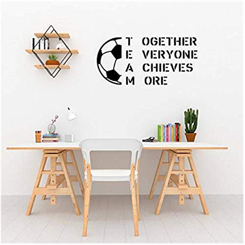 xjpgkd Football Girls and Boys Decorate Room with Sports Decorations Art Decor Nursery Kids Wall Sticker Removable 58 x 29 cm
