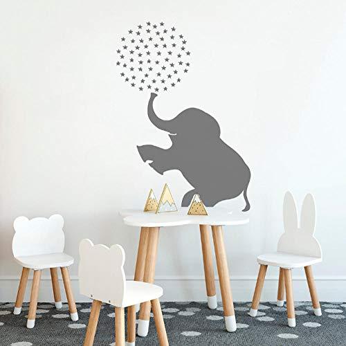 wwttoo Circus Elephant Wall Decal Baby Girl Boy Nursery Sticker Animal Zoo Kids Decor Decals Bedroom Home Decorate 42x64Cm