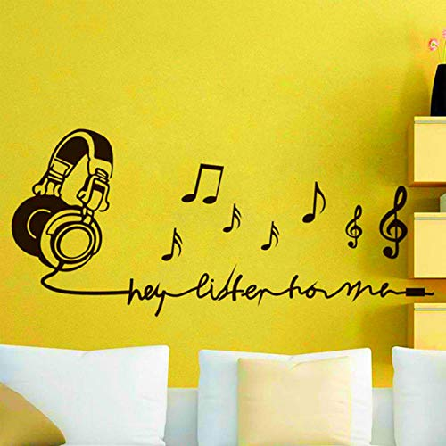 wwttoo Music Note Decorate Wall Ornaments Vinyl Stickers for Kids Room Removable Decals Living Home Decor Mural 67x30Cm