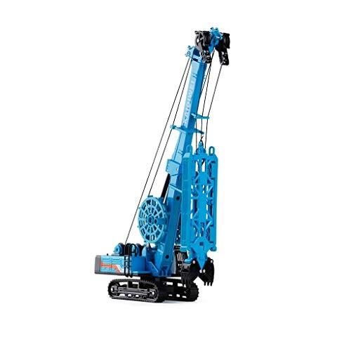 LINGLING Alloy Engineering Vehicle Model Toy 1 64 Slot Machine Excavation Crane Car Metal Color Blue