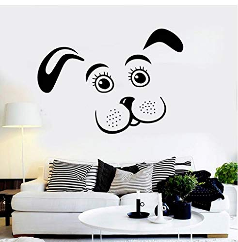 HUAIyinSTO Wall Decal Puppy Dog Vinyl Pet Animal Kids Room Nursery Stickers Removable Home Decorate Cute Art Sticker Wallpaper 5842Cm