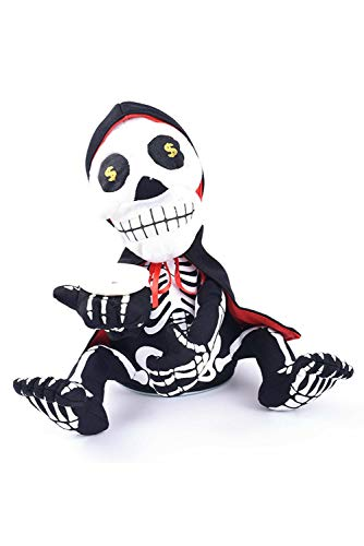 CosSail Halloween Horror Skeleton Piggy Bank Decor Electric Rotation Tricky Props Haunted House Decorate