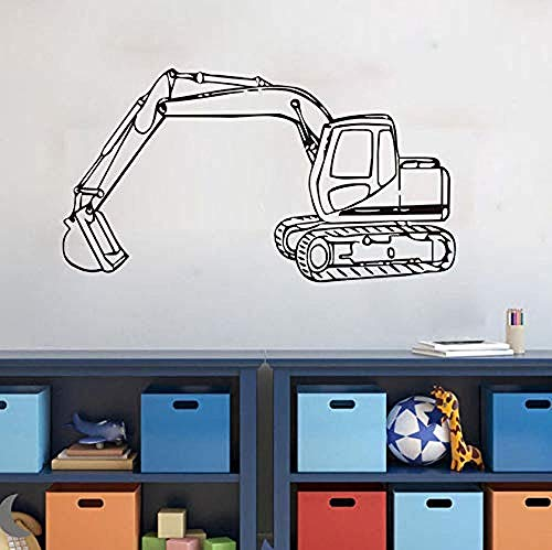 gykjf Wall Sticker Creative Removable Vinyl Decal Kids Nursery Interior Decoration Tractor Excavator and to Decorate Your Home 106 58Cm