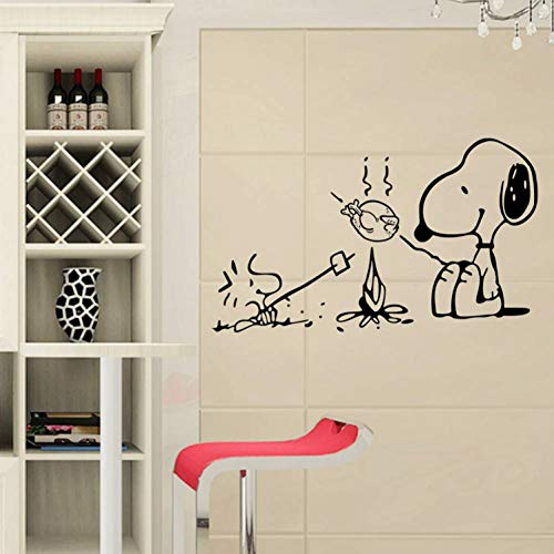 TIVOPA Hot Style Cartoon Barbecue Dog Popular DIY Wall Stickers for Dining Room Children Decorate Mural Art