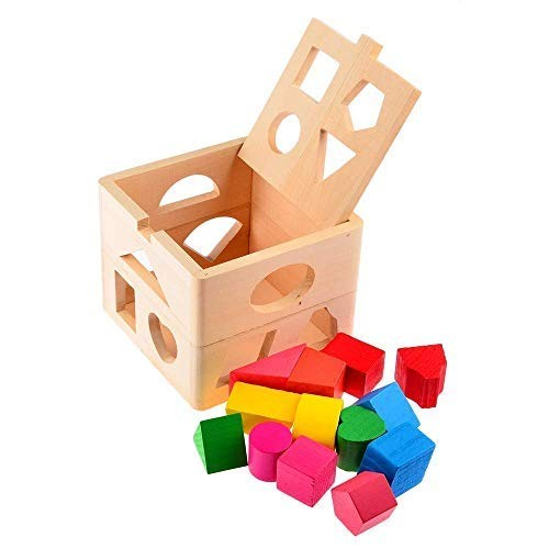 MercuryGo Kids Baby Educational Toys Wooden Building Block Toddler for Learning Toy Tool Coordinating Eye and Hand Movements -Clever Necessities Do Not Miss It