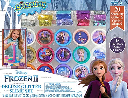 Disney Frozen II CRA-Z-Slimy Deluxe Glitter Slime Set