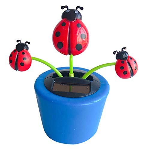 COMFORT INNOVATION Solar Powered Dancing Flowerpot Insect Swinging Dancer Toy Beetle
